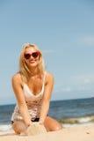 plażowa dziewczyna dosyć Obraz Stock