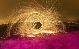 plażowa fajerwerku drutu wełna Obrazy Royalty Free