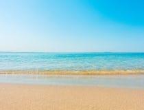 Plażowa i tropikalna denna miękkiej części fala Obrazy Royalty Free