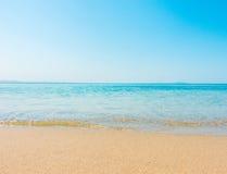 Plażowa i tropikalna denna miękkiej części fala Zdjęcie Stock