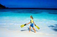 plażowa kobieta Zdjęcie Royalty Free