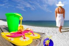 plażowa kobieta fotografia stock