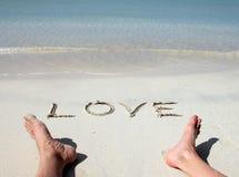 plażowa miłość Obrazy Stock