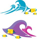 Plażowa natura i Morskie ryby w Różnych różnicach ilustracja wektor