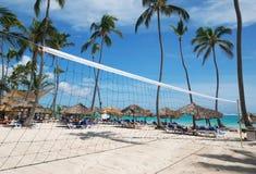 plażowa netto siatkówka Fotografia Royalty Free
