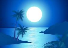 plażowa noc ilustracji