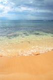 plażowa odbitkowa złota piaska sceny przestrzeń obrazy royalty free