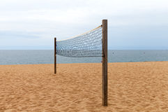 plażowa palma netto siatkówka piasku Fotografia Stock