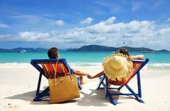 plażowa para zdjęcia royalty free