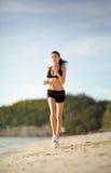 plażowa piękna bieg morza kobieta Obraz Stock