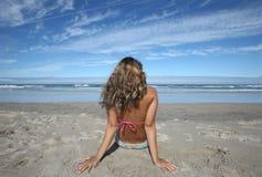 plażowa piękna dziewczyna Zdjęcie Royalty Free