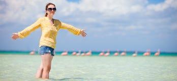 plażowa piękna kobieta Zdjęcia Royalty Free