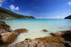 plażowa piękna panorama obrazy royalty free