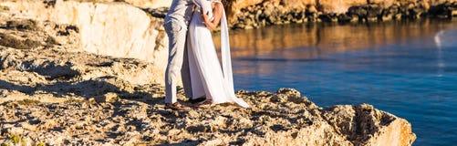 plażowa piękna para Obraz Royalty Free