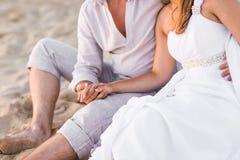 plażowa piękna para Obrazy Royalty Free