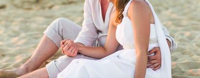 plażowa piękna para Zdjęcie Royalty Free