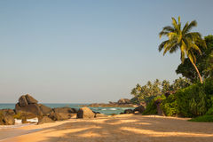 plażowa piękna wyspa Obraz Royalty Free