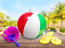 Plażowa piłka Zdjęcia Royalty Free