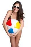 plażowa piłki dziewczyna zdjęcie royalty free