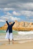 plażowa radość Fotografia Stock