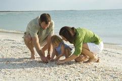 plażowa rodzina Fotografia Royalty Free