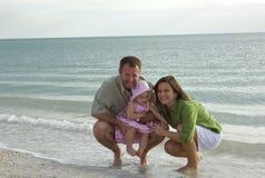 plażowa rodzina Obraz Royalty Free