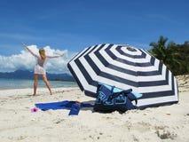plażowa scena Fotografia Stock