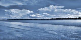 Plażowa scena przy Zawietrznym punktem, terytorium północny, Australia Obrazy Stock
