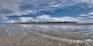 Plażowa scena przy Zawietrznym punktem, terytorium północny, Australia Zdjęcia Royalty Free