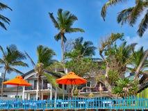 Plażowa sceneria przy Hikkaduwa plażą Zdjęcia Royalty Free