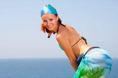 plażowa seksowna kobieta Obrazy Royalty Free