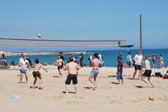 Plażowa siatkówka, Barcelona fotografia stock