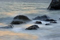 Plażowa skała Zdjęcia Royalty Free