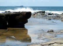 plażowa skała Fotografia Stock
