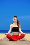 plażowa sprawność fizyczna Fotografia Royalty Free