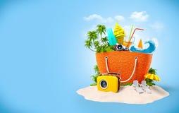 Plażowa torba zdjęcia stock