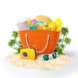 Plażowa torba ilustracja wektor