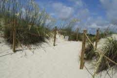 Plażowa Wejściowa Łysej głowy wyspa, Pólnocna Karolina, usa Obrazy Royalty Free