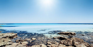 plażowa wspaniała panorama Fotografia Stock