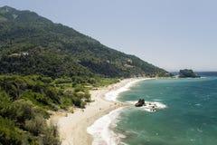 plażowa wyspę Samos obraz stock