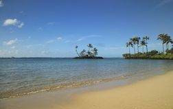 plażowa z wyspy małego fotografia stock