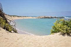 Plażowa zatoczka w wapnia wybrzeża regionie Zdjęcia Royalty Free