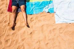 Plażowe aktywność Fotografia Royalty Free
