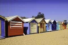 plażowe budy Fotografia Stock