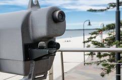 Plażowe lornetki z nadmorski widokiem przy Brighton Le Piasek plażą, Sydney, Australia zdjęcie royalty free