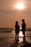 plażowe pary Obraz Royalty Free