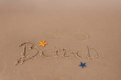 plażowe składów piaska skorupy Fotografia Royalty Free