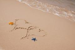 plażowe składów piaska skorupy Zdjęcia Stock