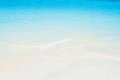 plażowego błękitny piaska denny biel Obrazy Royalty Free