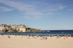 plażowego bondi dzień pogodna zima Zdjęcie Royalty Free